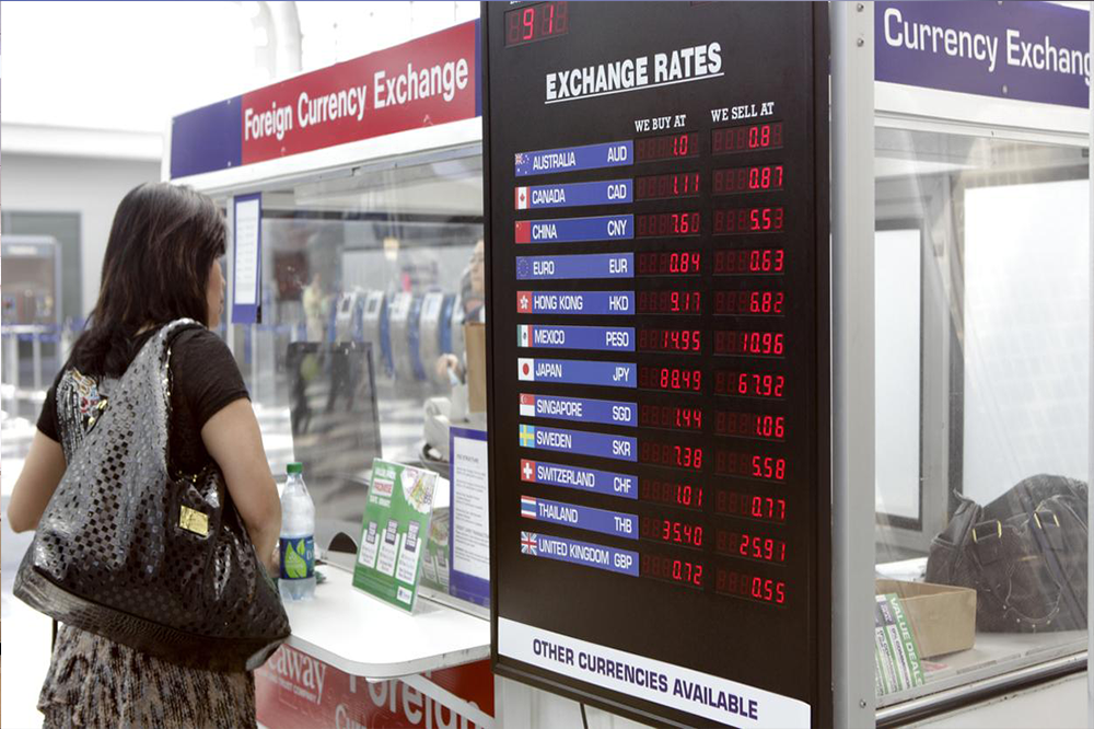 Security counters solutions in foreign currency exchange